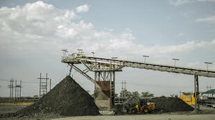 Vue de la mine de Bathopele à Runstenburg, en AfriqueduSud.