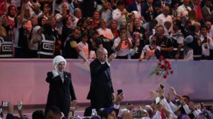 Tổng thống Thổ Nhĩ Kỳ Recep Erdogan được đảng Hồi Giáo bảo thủ AKP tái tín nhiệm vào chức chủ tịch ngày 18/08/2018 tại Ankara.