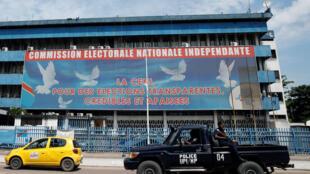 (Illustration) Le siège de la Céni, la Commission électorale, à Kinshasa, en RDC, le 9 janvier 2019.