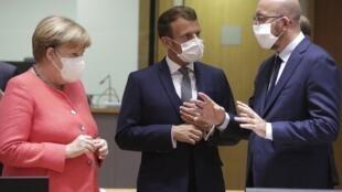 EU summit Macron Merkel