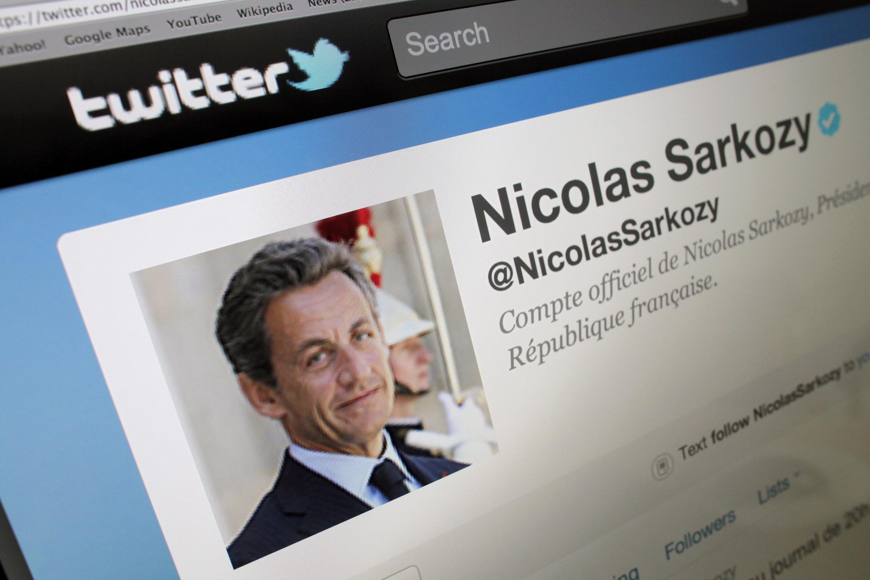 Trang Twitter của ông Nicolas Sarkozy