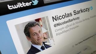 O microblogue de Nicolas Sarkozy no Twitter.