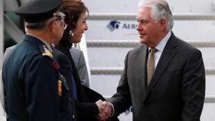圖為美國國務卿蒂勒森2018年2月2日抵訪墨西哥