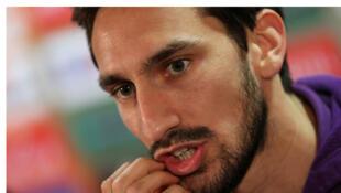Davide Astori (Fiorentina) lors d'une conférence de presse.