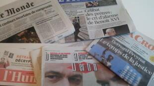 Primeiras páginas dos jornais franceses 13 de janeiro de 2020