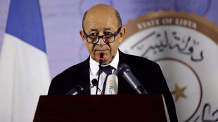 French Foreign Affairs Minister Jean-Yves Le Drian on a visit toTripoli, Libya, in September