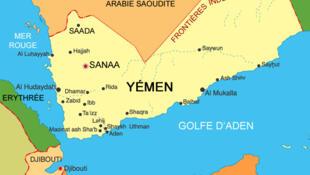 Mapa do Iêmen.