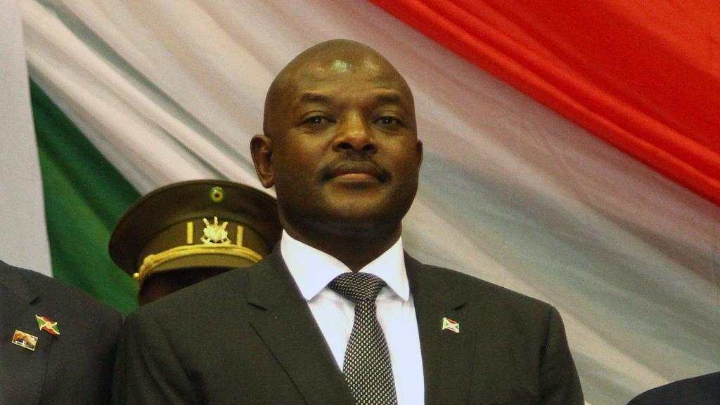 Pierre Nkurunziza, le 20 août 2015, lors de la cérémonie d'investiture de son troisième mandat.
