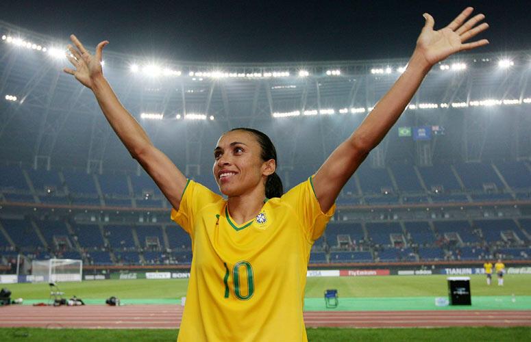 Marta ha sido elegida seis veces la mejor futbolista del mundo.