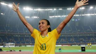Marta, eleita seis vezes pela FIFA como a melhor jogadora de futebol do mundo.