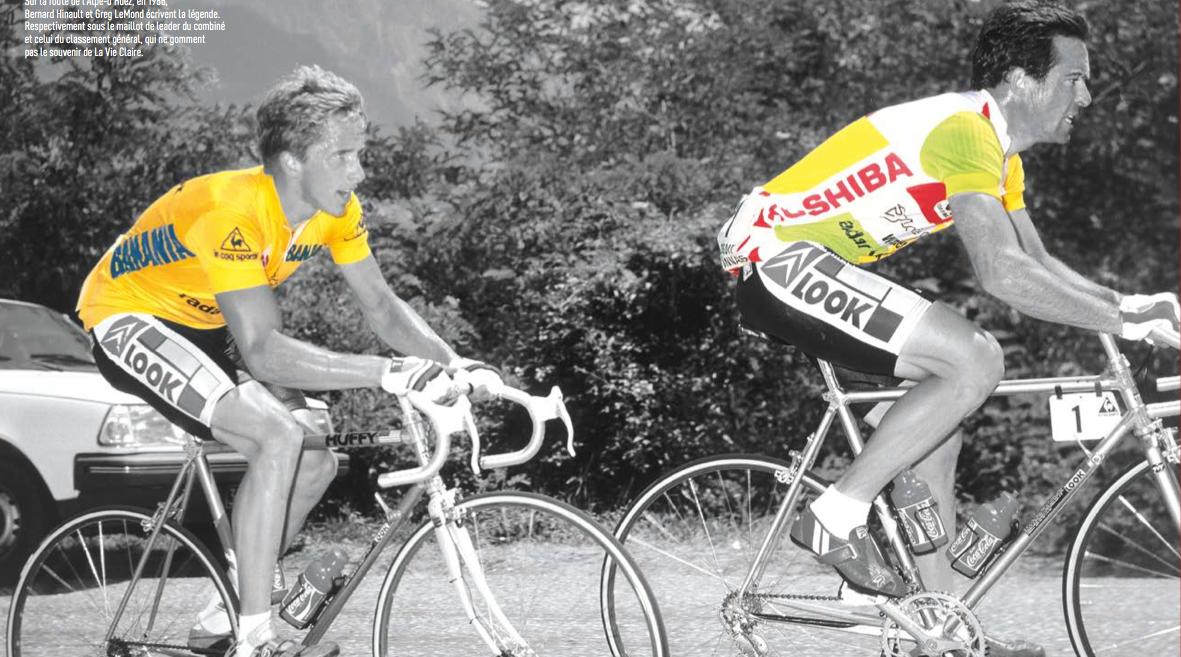 Бернар Ино и Грег ЛеМонд, 1986 г. Иллюстрация  книги Клода Друссана «1000 маек велогонки Tour de France»
