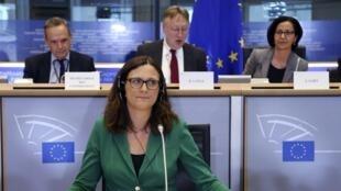 Ủy viên Châu Âu, phụ trách Thương mại, bà Cecilia Malmstrom.