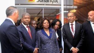 Presidente angolano, João Lourenço, em Luanda na Conferência internacional sobre petróleo e gás a 4 de Junho de 2019.