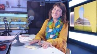 Diana Baroni en el estudio 1 de RFI