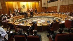 The Arab League meeting in Cairo