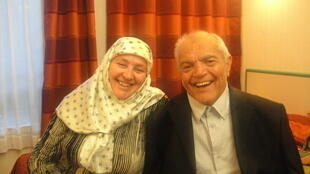 Мухамед Газдиев с женой.
