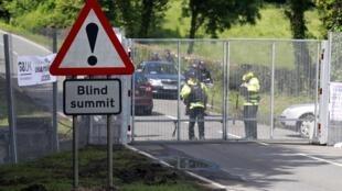 La police garde tous les accès au G8 de Lough Erne en Irlande du Nord.