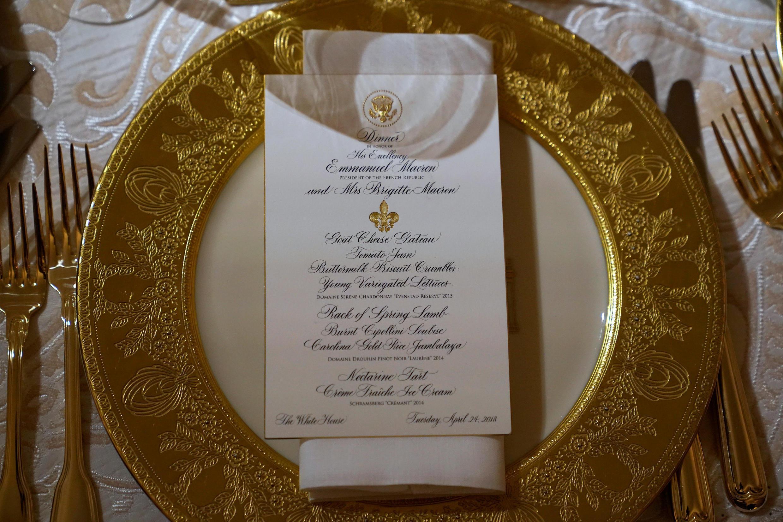 Le menu du dîner dans le détail...