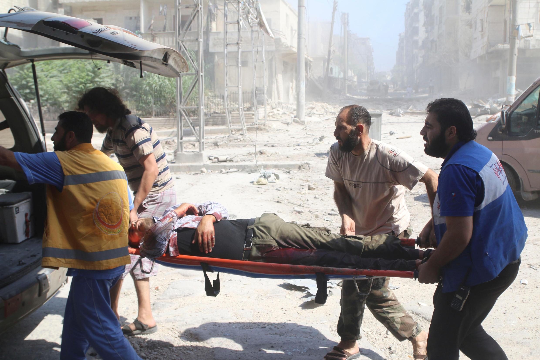 Bairros rebeldes de Alepo, como al-Fardous , são constantemente atacados pelo regime sírio.