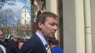 L'actuel maire de la capitale de la Lituanie, Vilnius, Artūras Zuokas.