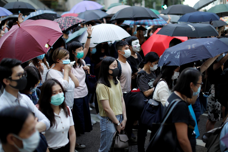 Manifestantes anti-governo se reúnem no centro de Hong Kong, China 4 de outubro de 2019.