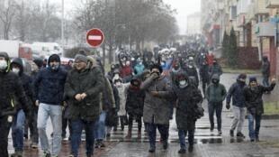 manifestation biélorussie