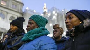 Un rassemblement contre les violences policières à New York, le 12 décembre 2014.