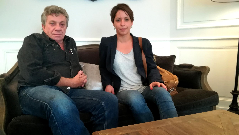 Patrick Chauvel et Gwendoline Debono au prix Bayeux-Calvados-Normandie des correspondants de guerre.