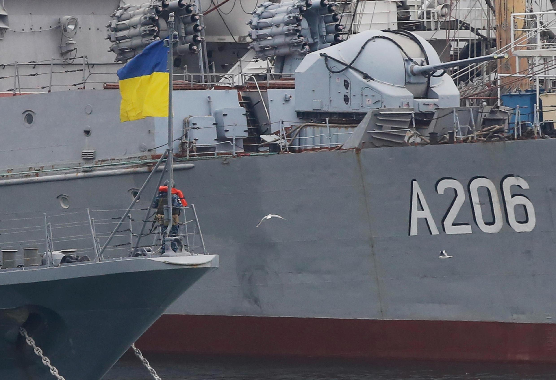 Украинские суда в порту Одессы, 26 ноября 2018.