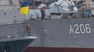Navios de guerra ucranianos no porto de Odessa, no Mar Negro. Ucrânia, 26 de Novembro de 2018.