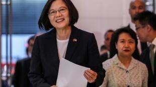 台湾总统蔡英文在纽约台北经济文化办公室 2019年7月11日