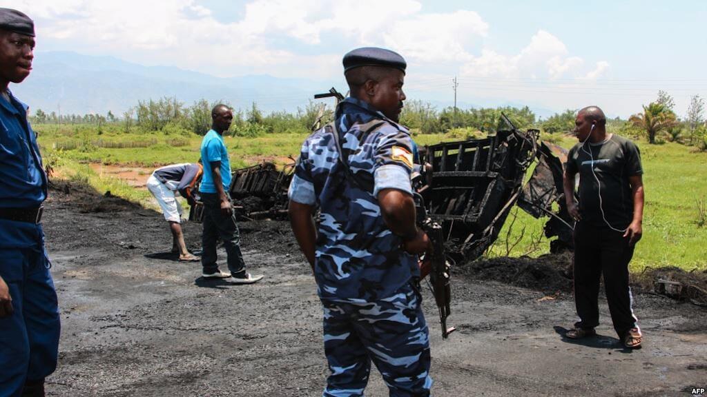Polisi katika eno la Gatumba, magharibi mwa Burundi, kwenye mpaka na DRC Septemba 15, 2018.
