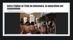 O jornal Libération dá destaque para o Sínodo da Amazônia que, segundo o diário, desagrada o presidente Jair Bolsonaro.