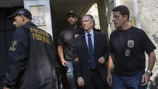 Carlos Nuzman é preso no Rio de Janeiro, em 5 de outubro de 2017.