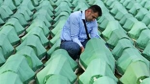 The remains of 775 of the massacre victims, all formally identified, awaiting burial in the Potocari cemetry, site of the Srebrenica Genocide Memorial.