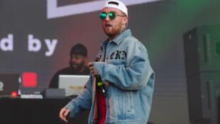 Mac Miller lors de son concert au festival Splash ! en 2017.