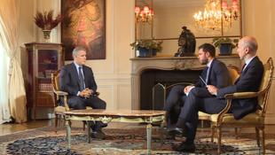 Entrevista com o presidente colombiano, Ivan Duque, na embaixada da Colômbia em Paris. 13/11/2018.