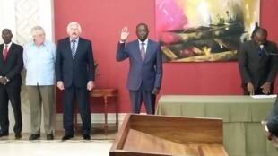 Tomada de posse de Baciro Djá para o cargo de primeiro-ministro da Guiné-Bissau. 20/08/15
