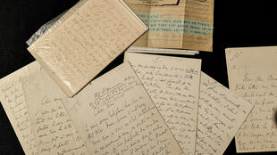 A picture taken on October 7, 2019 shows letters and documents by French writer Marcel Proust (1871-1922) displayed before the auction at the Christie's auction house in Paris.