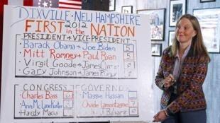 Na cidadezinha de Dixville Notch, no New Hampshire, primeira zona eleitoral aberta nesta terça-feira, a votação terminou em empate.