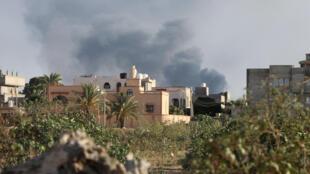 Affrontements à Tripoli le 28 août 2018.