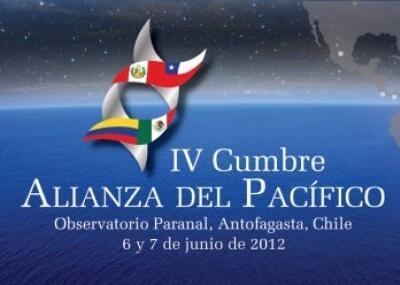 Logo de la cumbre de la Alianza del Pacífico, Antofagasta, Chile, junio de 2012