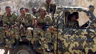 Militaires éthiopiens à Mogadiscio, la capitale somalienne.