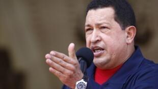 Le président vénézuélien Hugo Chavez au palais Miraflores à Caracas, le 22 juillet 2010.