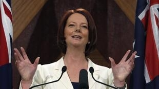 Australia's Prime Minister Julia Gillard speaks at a news conference in Melbourne August 22, 2010.