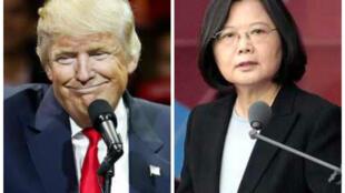 美国侯任总统特朗普与台湾总统蔡英文