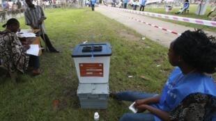 Au Liberia, il n'y avait pas de files d'attente devant les centres de vote, à Monrovia, ce mardi 8 novembre 2011.