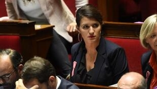 French Junior Minister for Gender Equality Marlene Schiappa  at the French National Assembly in Paris.