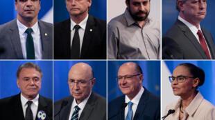 8 dos candidatos às presidenciais que debateram a 17 de agosto para eleições de domingo