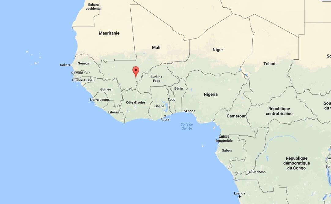 Koutiala (a vermelho), no Mali.